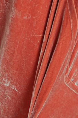Rick Owens Paneled Crushed-velvet Tunic
