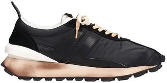Lanvin Running Sneakers In Black Nylon