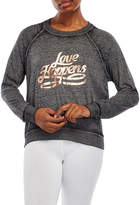 Betsey Johnson Love Happens Long Sleeve Top