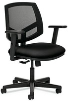 Hon Volt Task Chair HON Upholstery Color: Black, Arms: Included, Upholstery Material: Fabric Seat