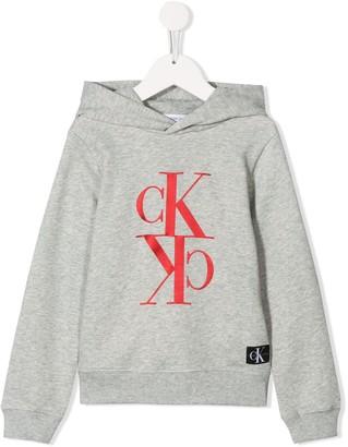 Calvin Klein Kids Logo Branded Hoodie