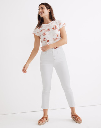 Madewell Tall Stovepipe Jeans in Pure White: Button-Front Edition