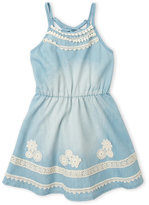 Hannah Banana Girls 7-16) Lace-Up Racerback Chambray Dress