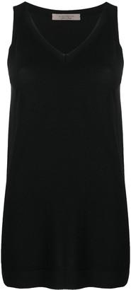 D-Exterior V-Neck Knitted Vest
