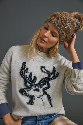 Anthropologie Oh Deer Sweater By in White Size S
