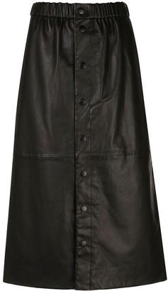 Sea New York Leather Midi Skirt