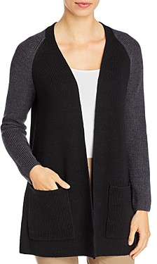 Eileen Fisher Merino Wool Raglan Sleeve Cardigan