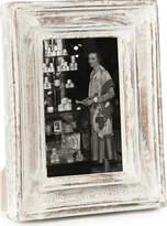 "Nkuku Jasailmer aged wood photo frame white 6x4"""