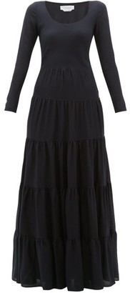 Gabriela Hearst Slava Tiered Wool-blend Maxi Dress - Navy