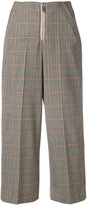 Dondup cropped checked trousers