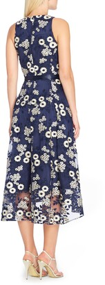Tahari Floral Embroidered Dress