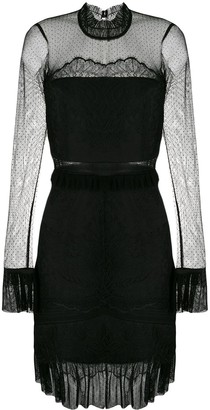 Three floor lace pattern fitted dress