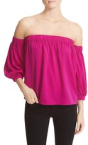 Milly Women's Stretch Silk Off The Shoulder Top