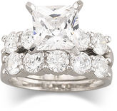 JCPenney FINE JEWELRY DiamonArt Cubic Zirconia Engagement Ring Set