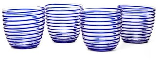 Yali Glass - Set Of Four Goto Tumblers - Blue
