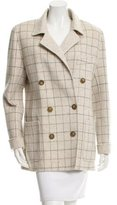 Oscar de la Renta Wool & Angora-Blend Double-Breasted Coat