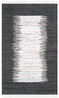 Beachcrest Home Ona Cotton Ivory/Black Area Rug