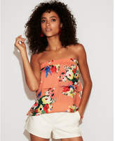 Express floral tiered ruffle tube top