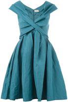 Lanvin deep v-neck dress - women - Linen/Flax/Polyamide/Spandex/Elastane - 40