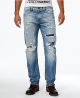 True Religion Men's Geno Cotton Slim-Fit Ripped Destroyed Jeans