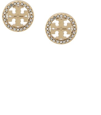 Tory Burch T-medallion round stud earrings