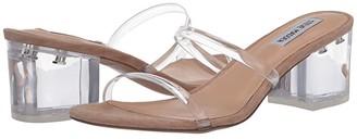 Steve Madden Issy Heeled Sandal (Clear) Women's Shoes