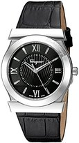 Salvatore Ferragamo Men's FI0930015 VEGA Analog Display Quartz Black Watch