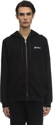 Burberry Zip-Up Cotton Jersey Hoodie