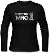 LSADMING Women's Doctor Who Dalek Inspire Long Sleeve T Shirt
