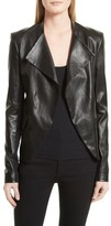 Theory Women's Bristol Peplum Leather Jacket