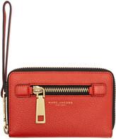 Marc Jacobs Red Gotham Zip Phone Wallet