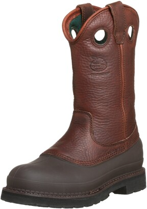Georgia Men's Pull-On Mud Dog Steel Toe Comfort Core Work Boot