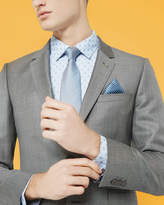Ted Baker Sharkskin Wool Jacket Grey