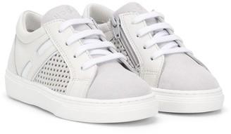 Hogan Perforated Detail Sneakers