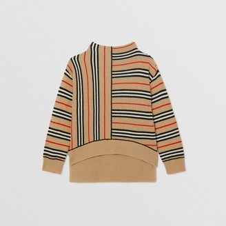 Burberry Childrens Contrast Icon Stripe Cashmere Wool Sweater