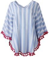 Goodnight Macaroon 'Mia' Striped Tassel Cape Top (3 Colors)