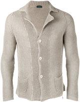 Zanone fisherman knit cardigan - men - Linen/Flax - 48