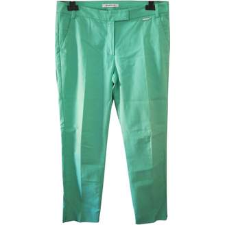 Marella Turquoise Cotton Trousers for Women