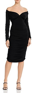 Norma Kamali Long-Sleeve Tara Dress