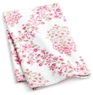 "Sunham Pink Botanical Garden Cotton 16"" x 26"" Hand Towel Bedding"