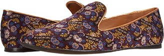Tory Burch 5 mm Smoking Slipper (Holiday Jacquard/Gold) Women's Shoes
