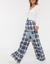 Daisy Street relaxed high waist pants in vintage check