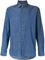 Z Zegna point d'esprit denim shirt