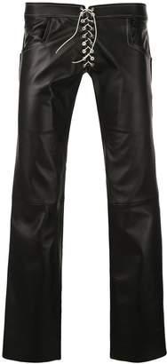 Ludovic De Saint Sernin lace-up biker trousers