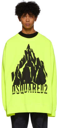 DSQUARED2 Yellow Slouch Fit Sweatshirt
