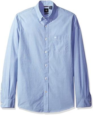 Dockers Beached Poplin Long Sleeve Button-Front Shirt
