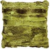 Adrienne Landau Textured Rabbit Fur Pillow