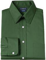 Croft & Barrow Big & Tall Solid Broadcloth Wrinkle-Resistant Point-Collar Dress Shirt
