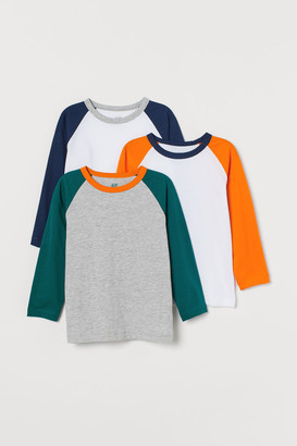 H&M 3-Pack Cotton Jersey Tops