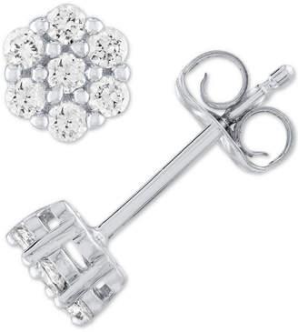 Forever Grown Diamonds Lab Grown Diamond Cluster Stud Earrings (1/4 ct. t.w.) in Sterling Silver